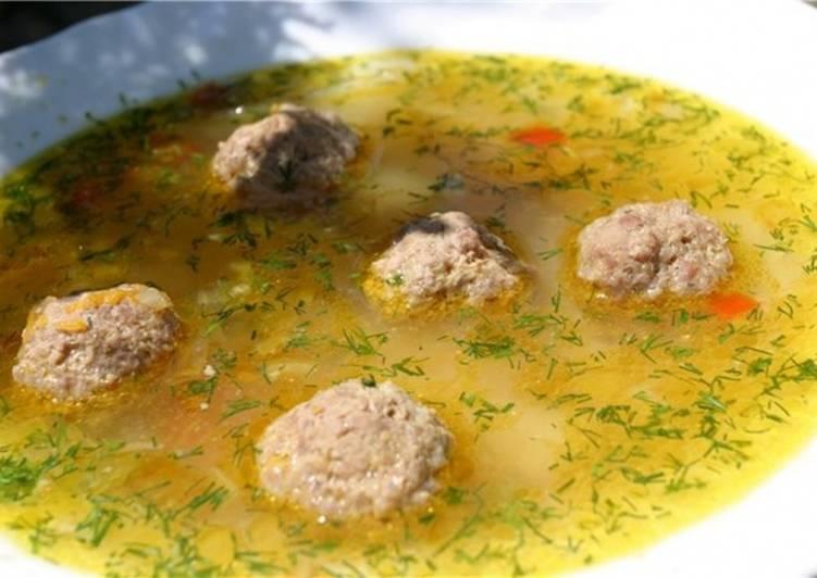 суп с фрикадельками и рисом как приготовить