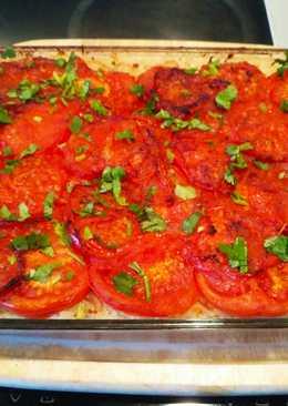 Постный рецепт. Запечные помидоры с рисом и луком