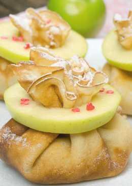 Блинные мешочки с яблоками и орехами. Идеально на Масленицу