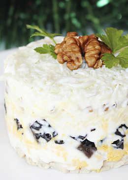 Слоеный Салат с Курицей и Черносливом - Новогоднее Меню - Рецепты nk cooking