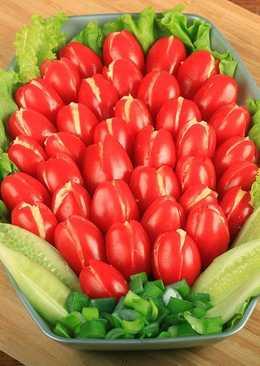 """Холодная закуска из помидоров - """"Тюльпаны"""""""