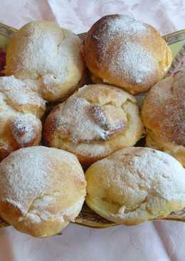 Заварные пирожные с творожной начинкой