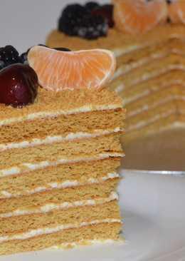 Торт Медовик с мягкими коржами и быстрым кремом