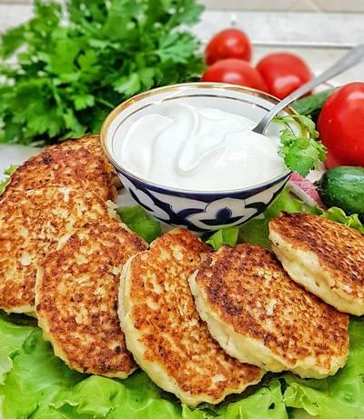 Драники, картофельные оладьи с мясом #школа