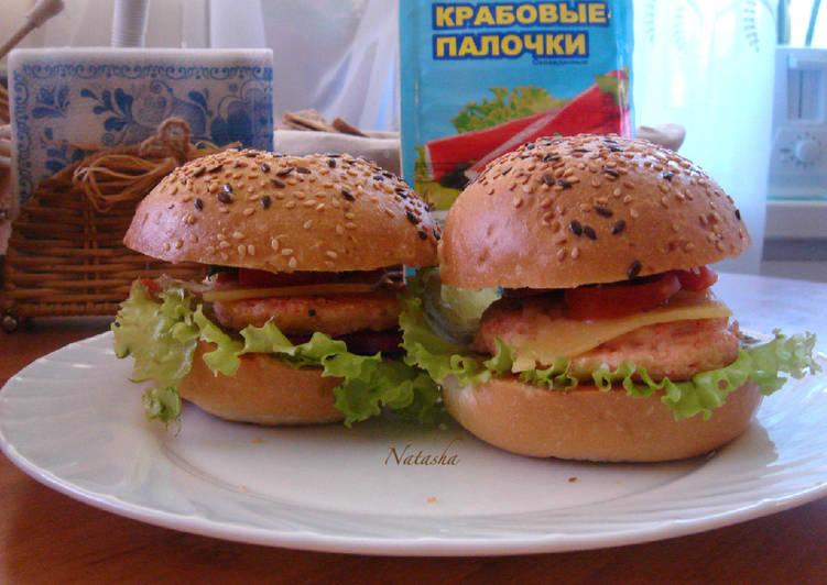 Котлеты из крабовых палочек для фишбургера