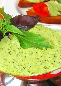 Соус из базилика с чесноком для шашлыка за 10 минут