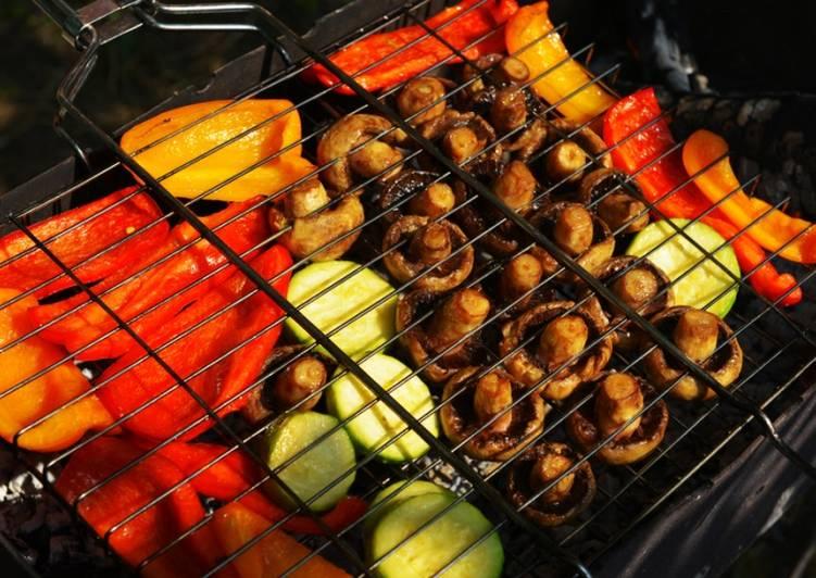 Шашлык из овощей на решетке