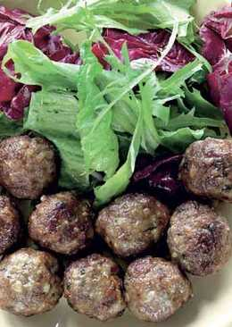 Фрикадельки из баранины с зирой, фаршированные виноградом
