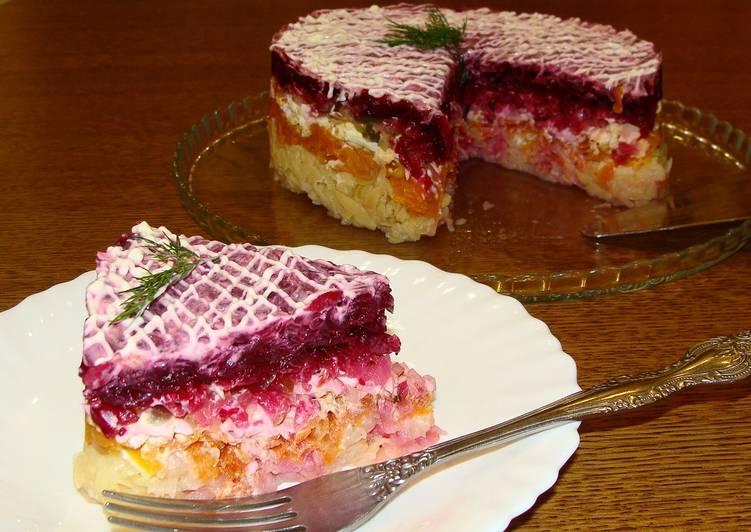 """Салат """"Овощной торт"""""""