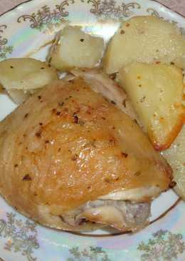 Курица с картошкой в духовке (в рукаве)