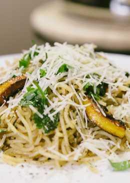 Спагетти с карамелизованными лимонами
