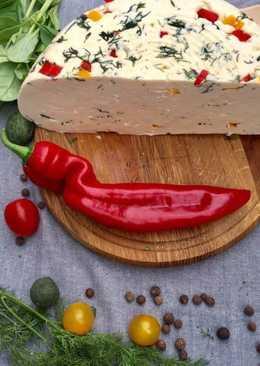 Нежная брынза с укропом и перцем. Очень вкусная и легкая в приготовлении