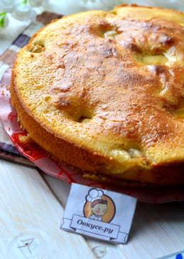 Яблочный пирог на простокваше с карамелью