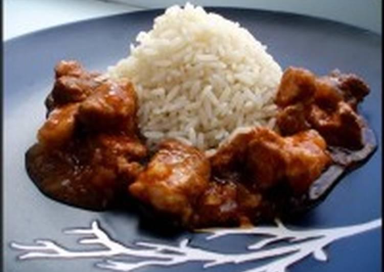 Мясо, тушенное с рисом