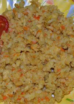 Рисовая каша с курицей