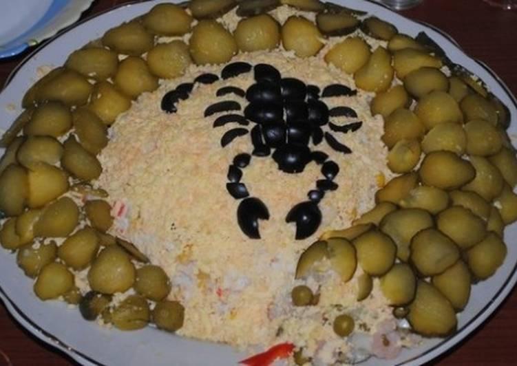 Новогодний куриный салат «Скорпион»