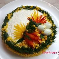 Праздничный салат к 8 Марта