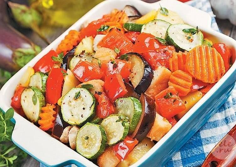 Овощное рагу в духовке с баклажанами рецепт с фото