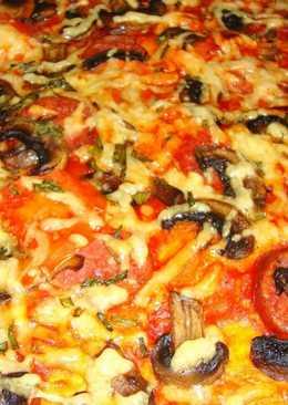 Пицца с грибами #кулинарныймарафон