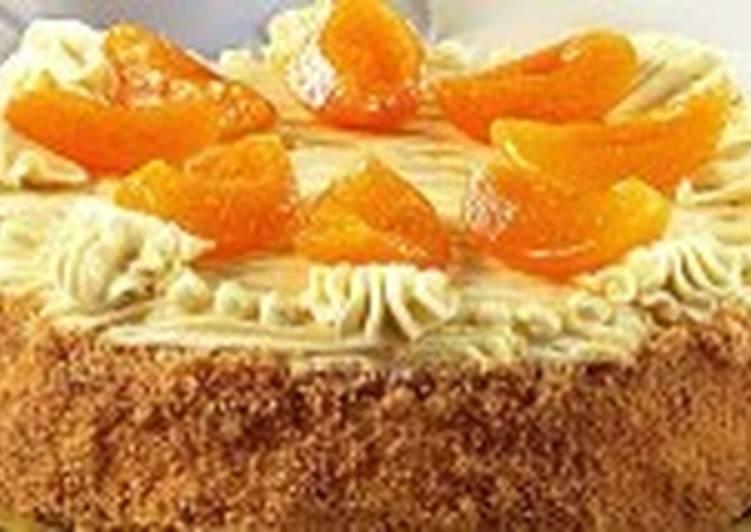 Торт слоеный с абрикосами