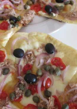 Пицца на сковороде in bianco(не омлет с майонезом)