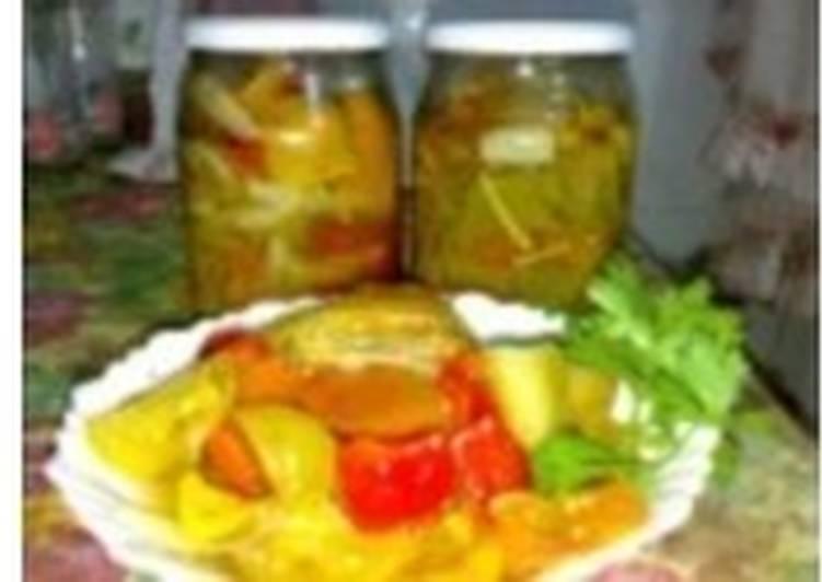 Салат-заготовка с зелеными помидорами