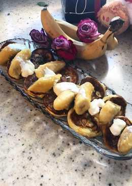 Оладьи с карамельно - банановым 🍌🍭 соусом