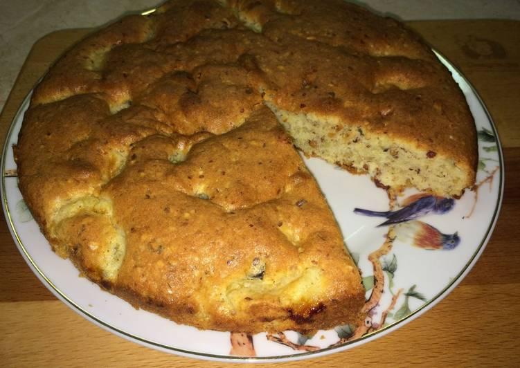 Мандариновый пирог с орехами