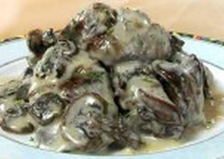Печень куриная с грибами