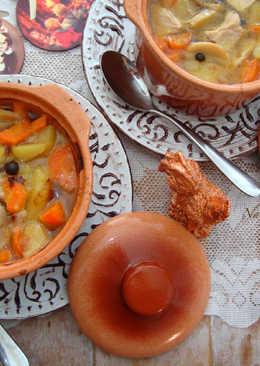 Свинина, тушёная с картофелем и шампиньонами в духовке