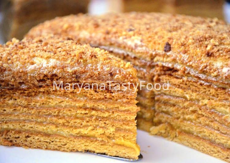 медовый торт старинный рецепт на молоке