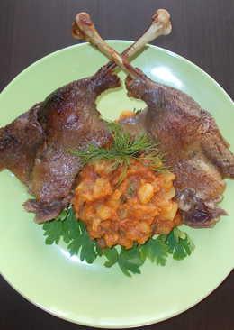 Запеченная утка с овощным рагу