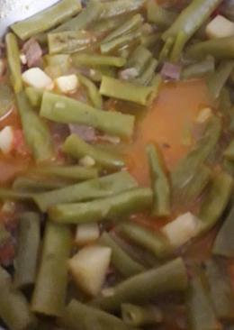 Зеленая фасоль тушеная