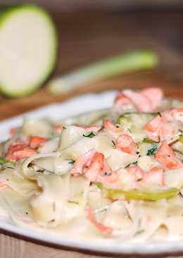 Быстрый ужин – паста с лососем в сливочном соусе