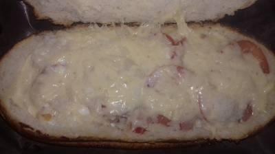 Пицца из батона