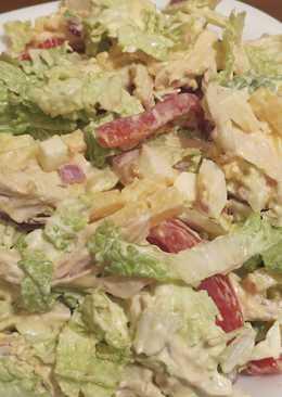 """Салат с курицей и овощами """"Женское счастье!"""""""