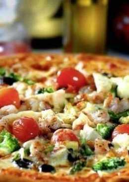 Домашняя пицца с тонкой хрустящей основой