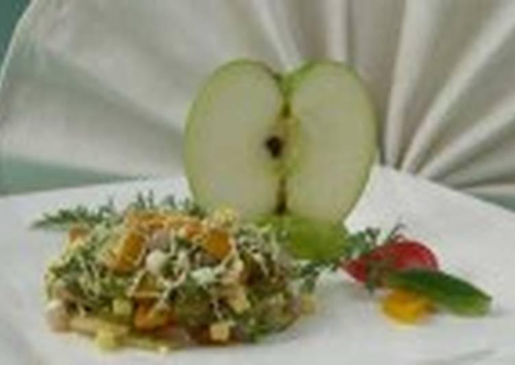 Салат с сельдью и овощами (2)