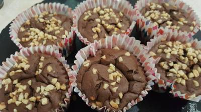 Шоколадно-банановые кексики