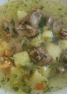 Суп с потрохами и вермишелью