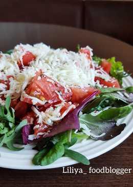 Разгрузочный салат после праздников! 🍃🍃🍃🍅🍅🍅🧀🧀🧀