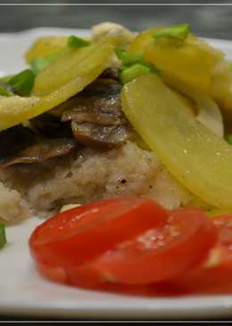 Запеченная Рыба В ДУХОВКЕ с картошкой и грибами под сметанным соусом