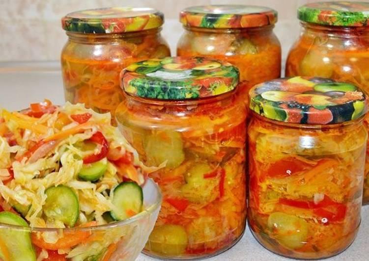 Салат из огурцов помидор капусты перца