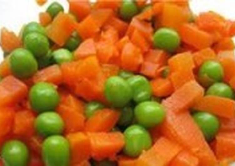 Салат постный с морковью и зеленым горошком