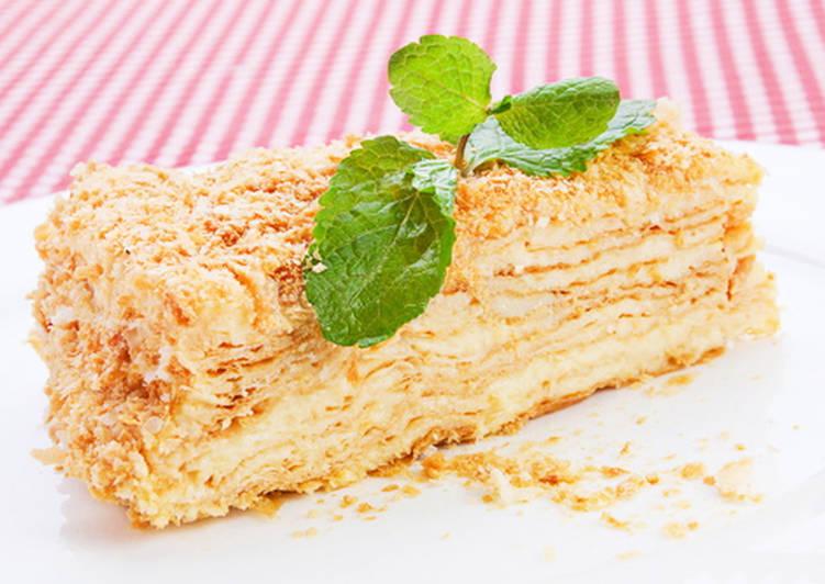 Торт Наполеон быстрый рецепт