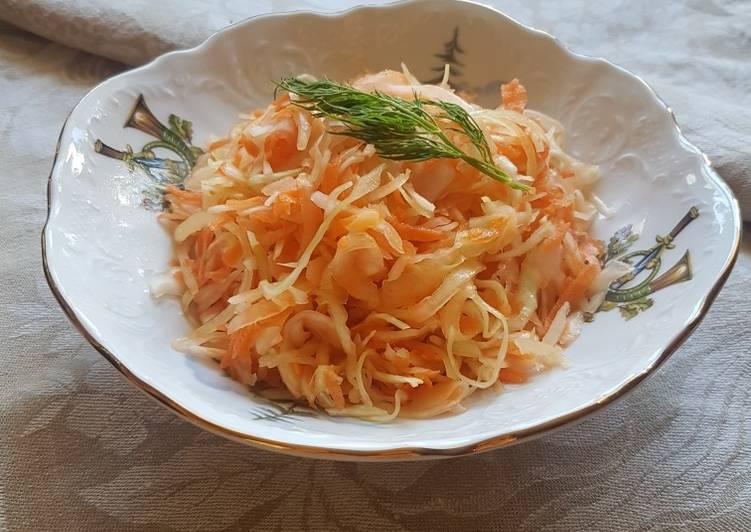 Пикантный салат из капусты с морковью 🥕