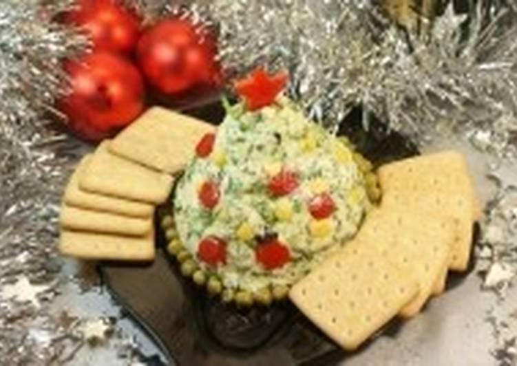 Закуска чесночно-сырная «Новогодняя ель»