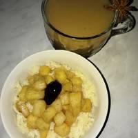 Молочная рисовая каша с пряным яблочком😊 #спас