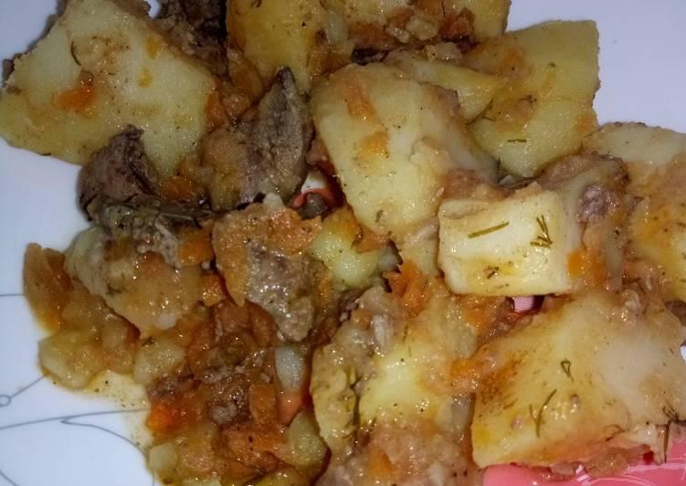Картофель в мультиварке с печенью рецепты с фото
