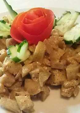 Баклажаны тушеные в сметане на сковороде с вкусом как у грибов